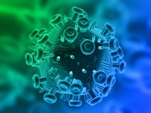 Hiv illustration Stock Image
