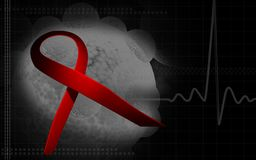 HIV ribbon Stock Image