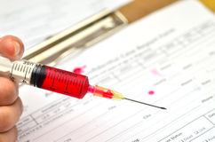 HIV Test form Stock Image