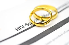 HIV Test form Stock Images