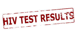 HIV test results. Rubber stamp with text HIV test results inside,  illustration Stock Image