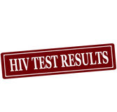 HIV test results Stock Image