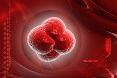 Hiv VIRUS. Digital illustration HIV virus in colour background stock illustration