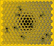 Hive. Illustration of bees building a hive royalty free illustration