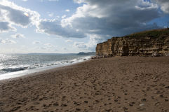 Hive Beach At Burton Bradstock Stock Image
