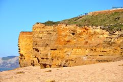 Hive Beach Cliffs at burton Bradstock Stock Images