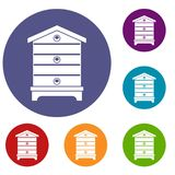 Hive icons set Royalty Free Stock Image