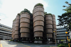 The Hive, Nanyang Technological University. SINGAPORE - SEPTEMBER 23, 2016 : The Hive, called Dim Sum Baskets Building, at Nanyang Technological University (NTU Royalty Free Stock Photo