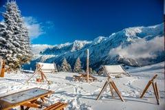 Hiver à Chamonix Image stock