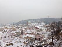 Hiver à Prague Images libres de droits