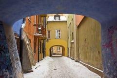 Hiver à Varsovie, Pologne Images libres de droits