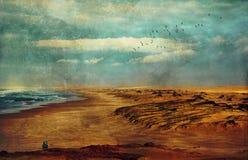 Hiver au bord de la mer Image stock