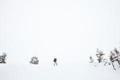 Hiver augmentant dans les Alpes Photo libre de droits
