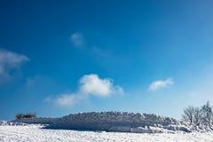 Hiver avec la neige dans les montagnes géantes, République Tchèque Photo libre de droits