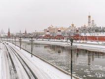 Hiver blanc à Moscou, la Russie photo libre de droits
