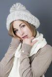 Hiver chaud à la mode séduisant Photos stock