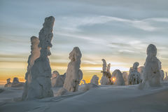 Hiver chez la Laponie Photos libres de droits