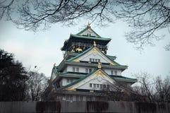 Hiver chez Osaka Castle Photo libre de droits