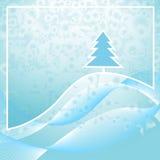 Hiver d'abrégé sur arbre de Noël Photos stock