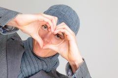 Hiver d'amour Photographie stock libre de droits