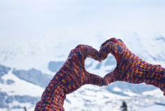 Hiver d'amour Photo stock