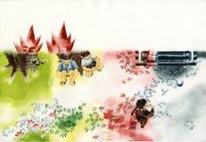 Hiver d'automne d'été de ressort Illustration Libre de Droits