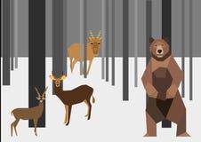 Hiver dans la forêt Photographie stock libre de droits