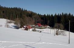 Hiver dans la région Moravian-silésienne de montagnes Image libre de droits