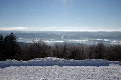 Hiver dans la région Moravian-silésienne de montagnes Photos libres de droits