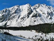 Hiver dans la station touristique de montagne Images libres de droits