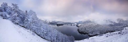 Hiver dans le secteur anglais de lac Photos libres de droits