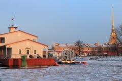 Hiver dans le St Petersbourg Image libre de droits