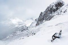 Hiver dans les Alpes Image libre de droits