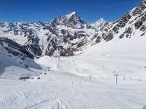 Hiver dans les Alpes image stock