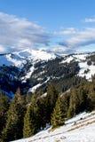 Hiver dans les Alpes Photo libre de droits