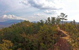 Hiver dans les montagnes de la Thaïlande Photo stock