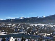 Hiver dans les montagnes de Tatra photo stock