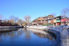 Hiver dans Pékin Houhai photographie stock libre de droits