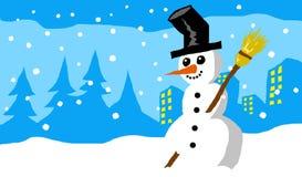 Hiver de bonhomme de neige Image libre de droits