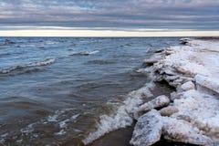 Hiver de bord de la mer Photo stock