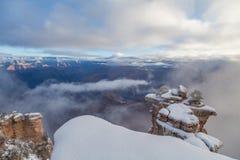 Hiver de canyon grand Photo stock