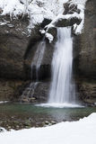 Hiver de cascade Photographie stock