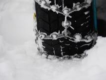 Hiver de chaînes de neige Photos libres de droits