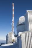 Hiver de dessus de montagne d'observatoire Photographie stock