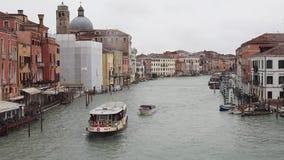 Hiver de Grand Canal Venise banque de vidéos