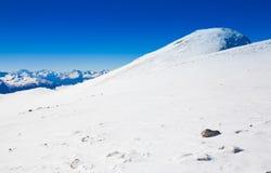 Hiver de jour de montagne Images libres de droits