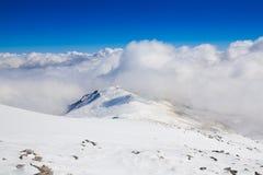 Hiver de jour de montagne Photo libre de droits