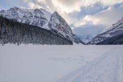 Hiver de Lake Louise photos libres de droits