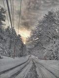 Hiver de Maine Photos stock