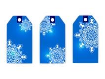 Hiver de neige de mandala d'étiquette Image stock